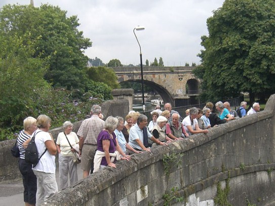 Dinton Walking Group on a visit to Bath